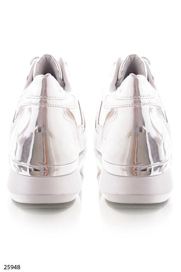 00b8df2fa ... Женские стильные кроссовки серые с серебром эко-замша+эко-кожа , фото 5