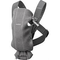 Рюкзак-кенгуру BABYBJORN Carrier Mini Dark grey 3D, Jersey 21084