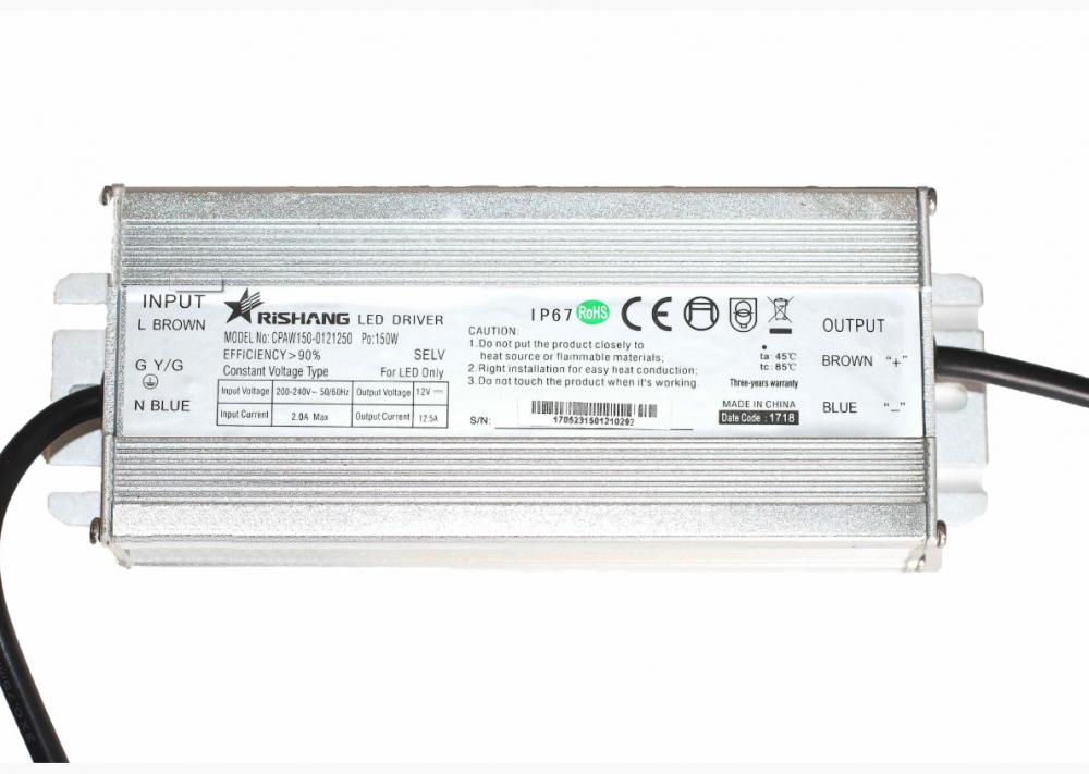 Блок живлення CPAW150-0121250 Рішанг 12 вольт  150 вт герметичний IP67 10998
