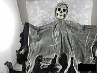 Декорации к празднику Хэллоуин Halloween подвеска скелет призрак 80*55 см, фото 1