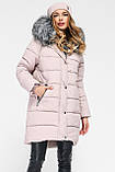 Модная куртка парка с мехом внутри р 46, X-Woyz LS-8806-25, фото 7