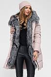 Модная куртка парка с мехом внутри р 46, X-Woyz LS-8806-25, фото 3