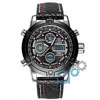 Наручные часы AMST 3022 Silver-Black Fluted Wristband