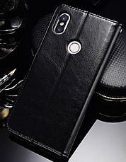Кожаный чехол-книжка для Xiaomi Mi 8 черный, фото 2