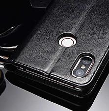 Кожаный чехол-книжка для Xiaomi Mi 8 черный, фото 3