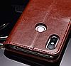 Кожаный чехол-книжка для Xiaomi Mi 8 коричневый, фото 2