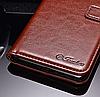 Кожаный чехол-книжка для Xiaomi Mi 8 коричневый, фото 3
