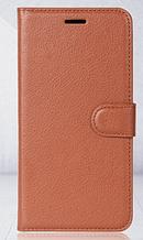 Чехол-книжка для Meizu M6 Note коричневый