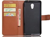 Чехол-книжка для Meizu M5 Note коричневый, фото 3