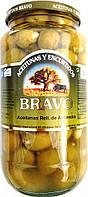 Оливки Bravo фаршированные цельным миндалем, 1 кг (Испания)
