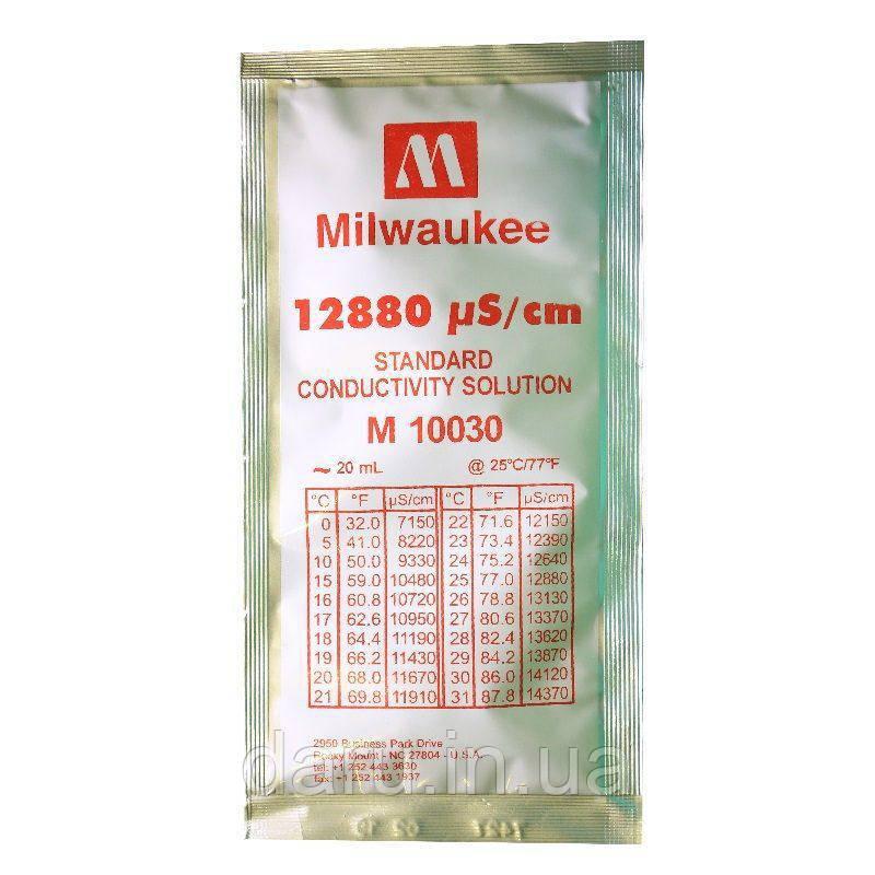 Калибровочный раствор (жидкость) 12880µS/cm (мкСм) для кондуктометровMILWAUKEE 20мл,США