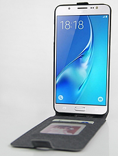 Чехол флип для Samsung galaxy j7 2016 j710 черный, фото 2