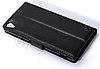 Кожаный чехол-книжка для Sony Xperia Z4 , Z3+ E6533, E6553 черный, фото 4