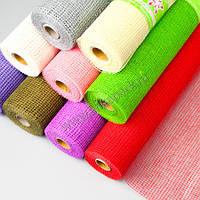 Джутовая сетка, цвета зеленый, розовый, оранжевый, фото 1