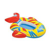 Детский надувной плотик intex 59380 Любимый транспорт ( 102х66 см.), фото 3