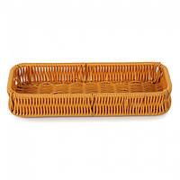 Плетёная корзинка для подачи столовых приборов коричневая  из ПВХ Helios