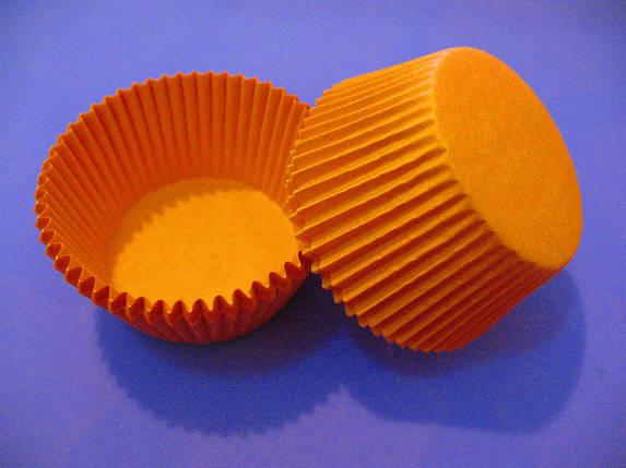 Тарталетки (капсулы) бумажные для кексов, капкейков Оранжевые, фото 2