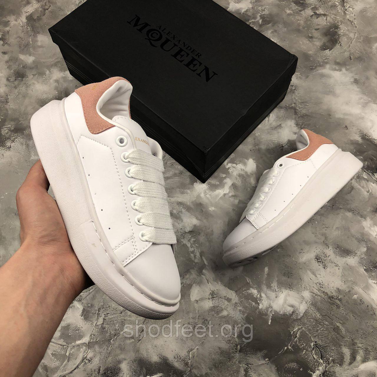 Женские кроссовки Alexander McQueen White