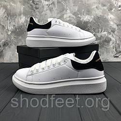 Женские кроссовки Alexander McQueen White Black