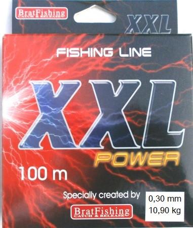 Рибальська волосінь BratFishing XXL Power, 0,30 мм, 100 м.