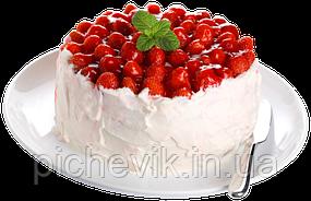 Клубничный торт (без выпечки) (на желатине)