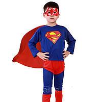 Детский карнавальный костюм Супермен Супер Мен 1-6 лет. Размеры: С,Л, фото 1