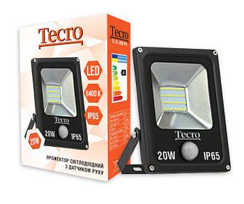 Светодиодный прожектор Tecro TL-FL-20B-PR 20W 6400K с датчиком движения