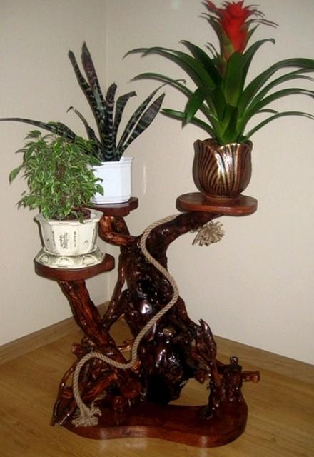 Корзина для цветов из дерева