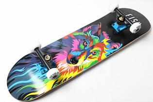 СкейтБорд деревянный от Fish Skateboard Wolf Гарантия качества Быстрая доставка