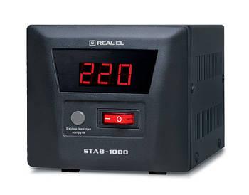 Стабилизатор REAL-EL STAB-1000 Black UAH