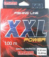 Леска BratFishing XXL Power, сечение 0,36 мм, 100 м.