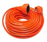Удлинитель PowerPlant JY-3024/25 (PPCA10M250S1) 1 розетка, 25 м, оранжевый