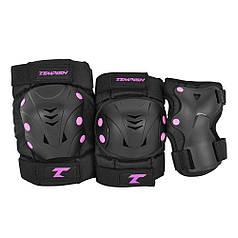 Комплект защиты для катания на роликах Tempish Taky pink M