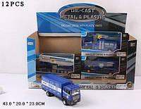 Машина металлическая 12 видов светится, со звуком полицейская серия в коробке SX89531-1