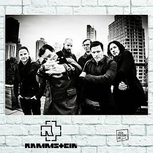 Постер Rammstein, групповое фото, Рамштайн. Размер 60x40см (A2). Глянцевая бумага
