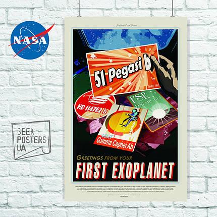 Постер НАСА, NASA, Pegasi 51. Размер 60x42см (A2). Глянцевая бумага, фото 2
