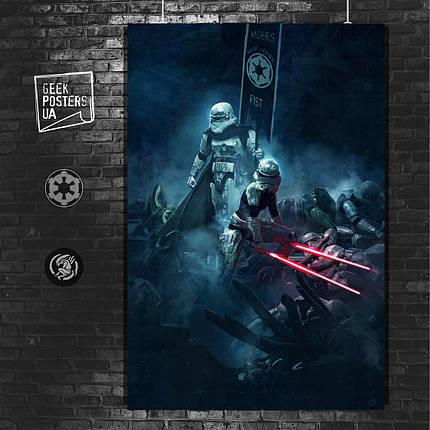 Постер Vader's Fist, штурмовик с мечами. Размер 60x42см (A2). Глянцевая бумага, фото 2