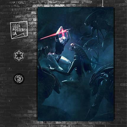 Постер Vader's Fist, штурмовик в прыжке. Размер 60x42см (A2). Глянцевая бумага, фото 2