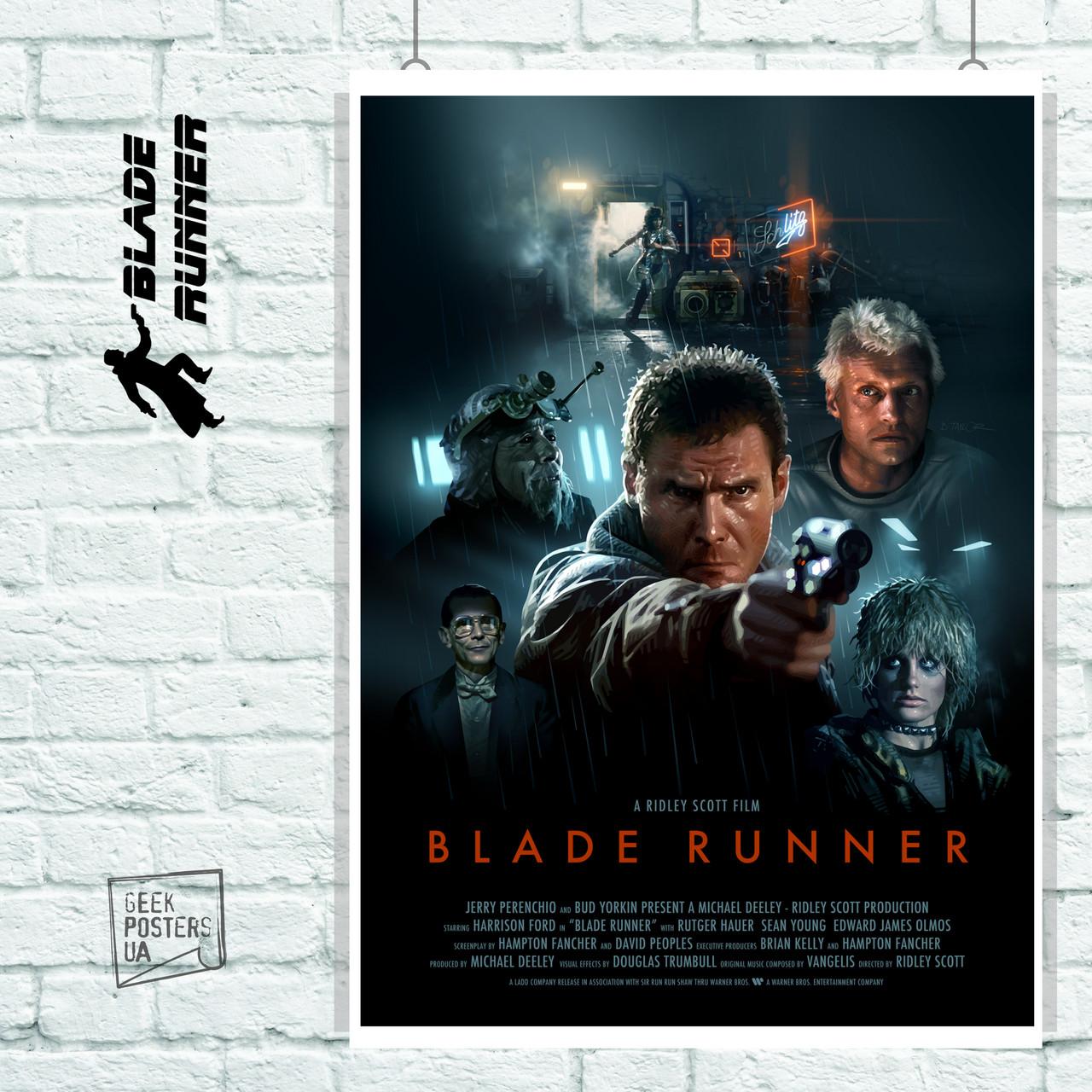 Постер Blade Runner, Бегущий по лезвию. Размер 60x42см (A2). Глянцевая бумага