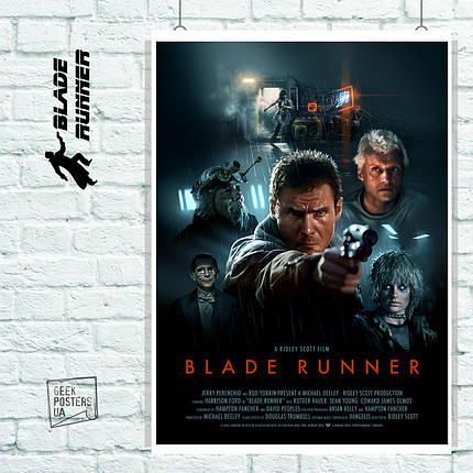 Постер Blade Runner, Бегущий по лезвию. Размер 60x42см (A2). Глянцевая бумага, фото 2