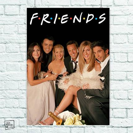 "Постер Свадьба, сериал ""Friends"", Друзья. Размер 60x42см (A2). Глянцевая бумага, фото 2"