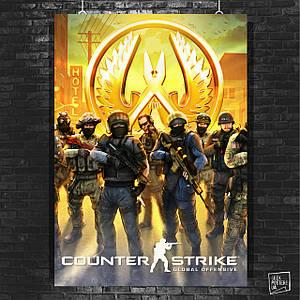 Постер Counter-Strike, CSGO, КС, контра, Контрстрайк. Размер 60x42см (A2). Глянцевая бумага