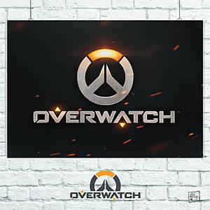 Постер Overwatch, Лого. Размер 60x42см (A2). Глянцевая бумага