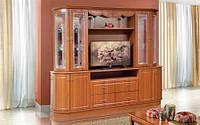 Світ Меблів  гостиная Цезарь-2 2130х2500х580мм орех