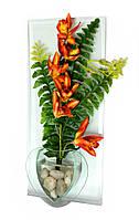 Цветок в стекле (36х16х5 см)
