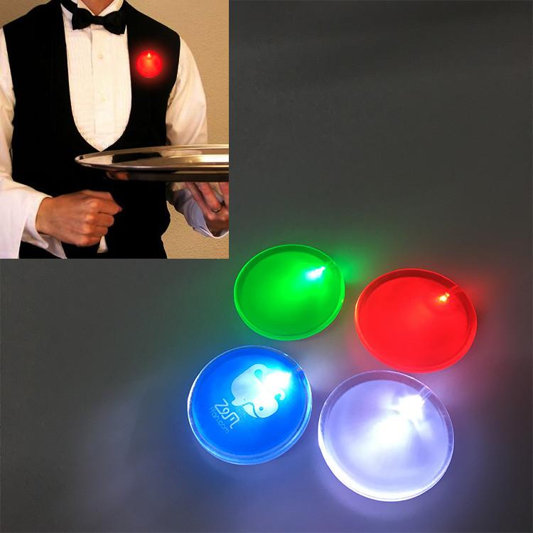 Рекламный светодиодный значок. LED Значок бейдж.На грудь.