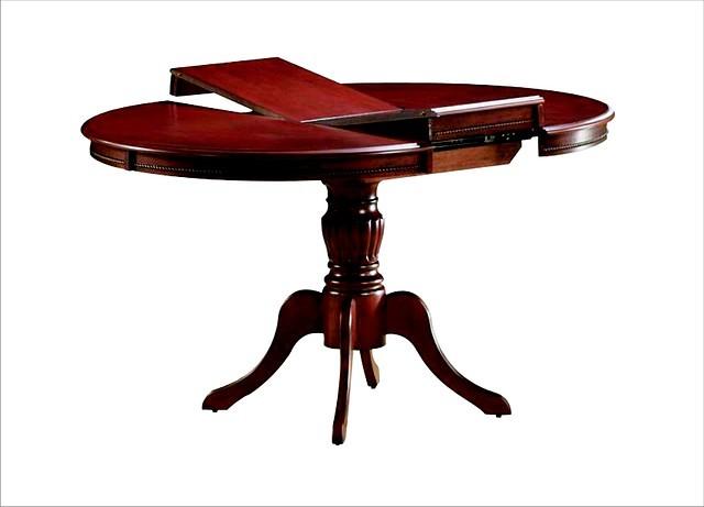 Стол из натурального дерева «Анжелика» (1м), Круглый раскладной стол