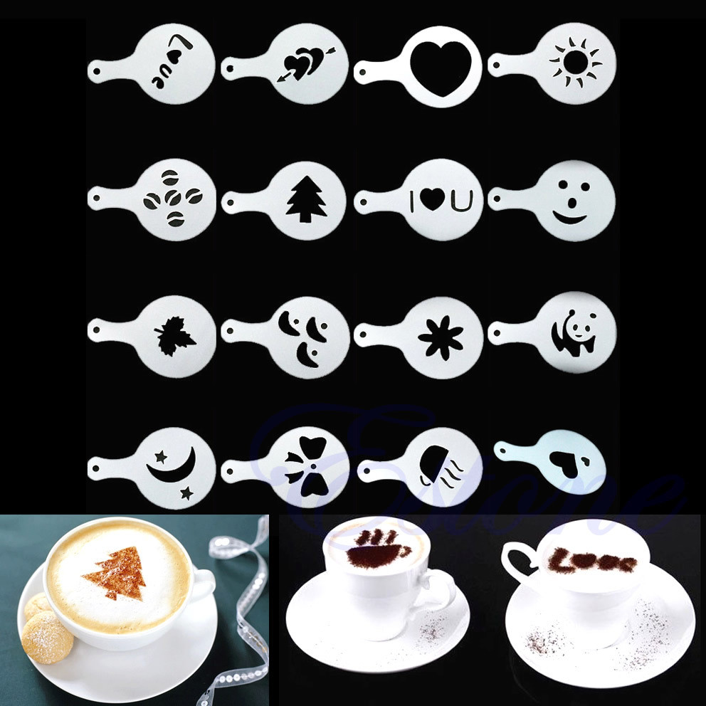 Творческий трафарет для кофе