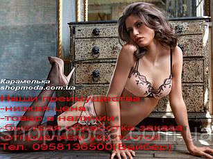 Сексуальное белье Эротический Комплект бюстье и трусики Цвет бежевый, фото 3
