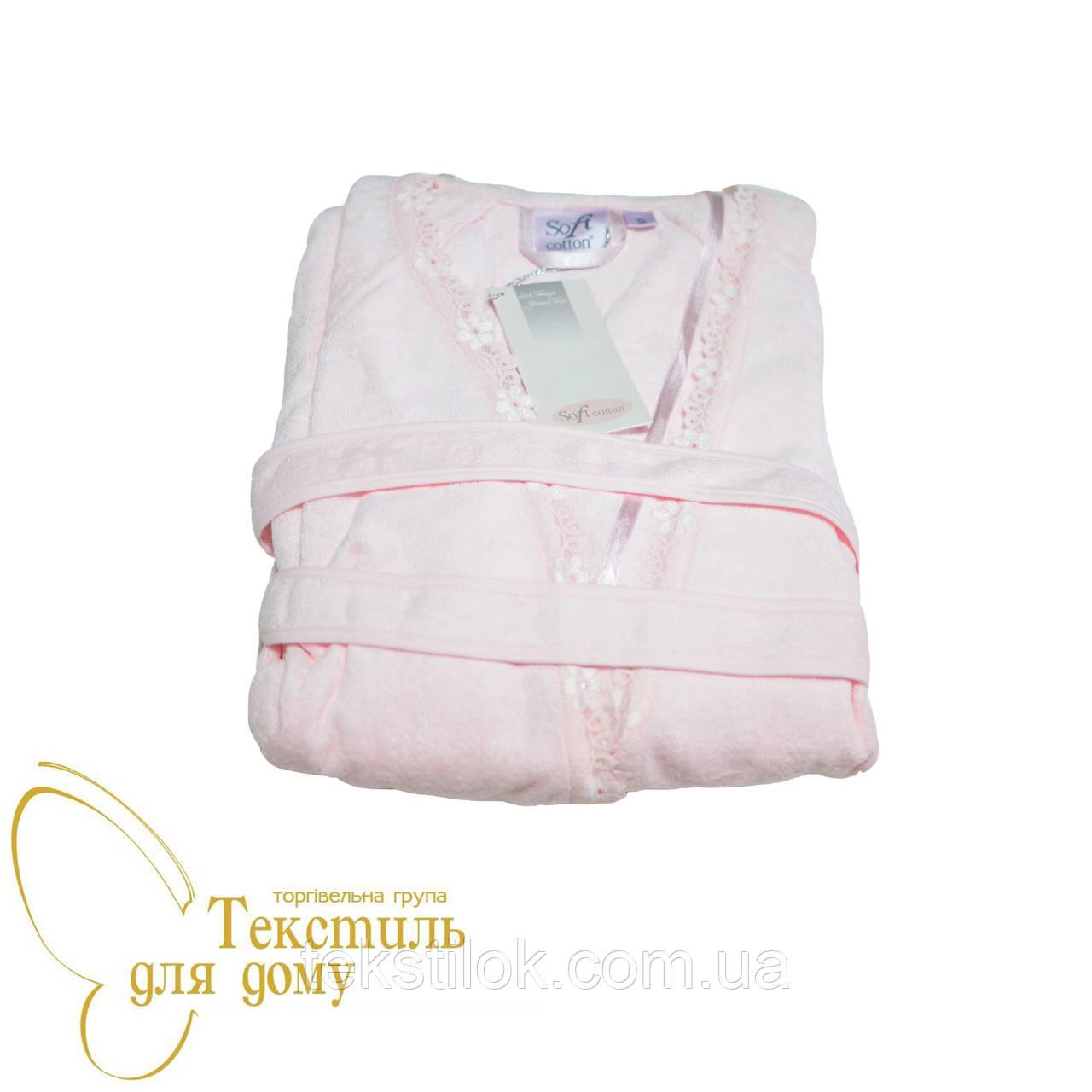 Халат женский Soft Cotton RENCIN, розовый